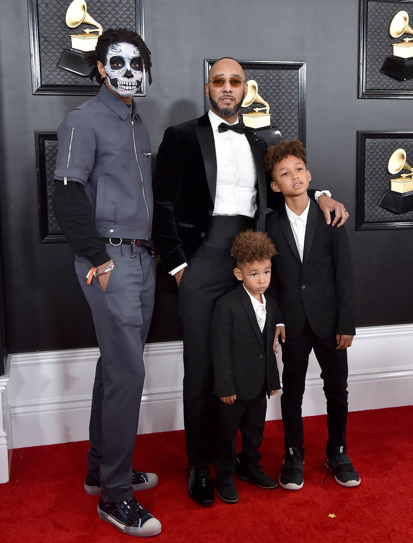 Swizz Beatz son skeleton mask makeup grammys explained