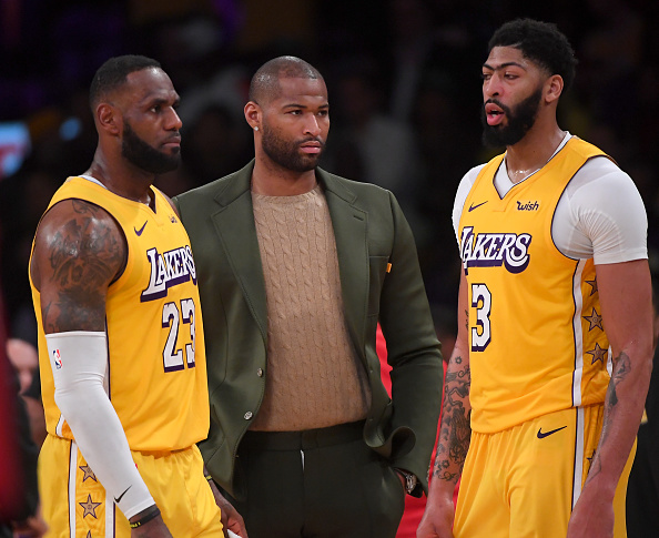 Lakers DeMarcus Cousins, LeBron James, Anthony Davis