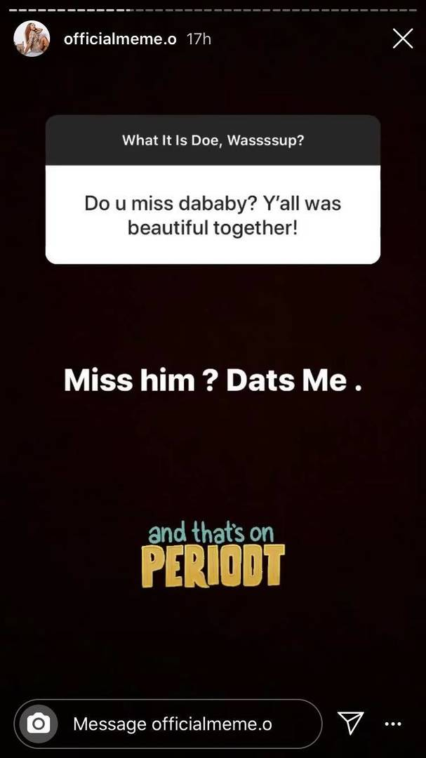 DaBaby baby mama cheating relationship status pregnant