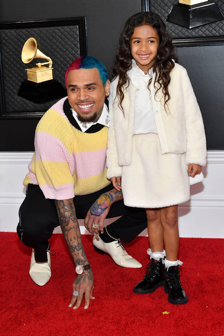 Chris Brown Nia Guzman Royalty Brown daughter soccer game reunite custody battle baby mama co-parents cheer