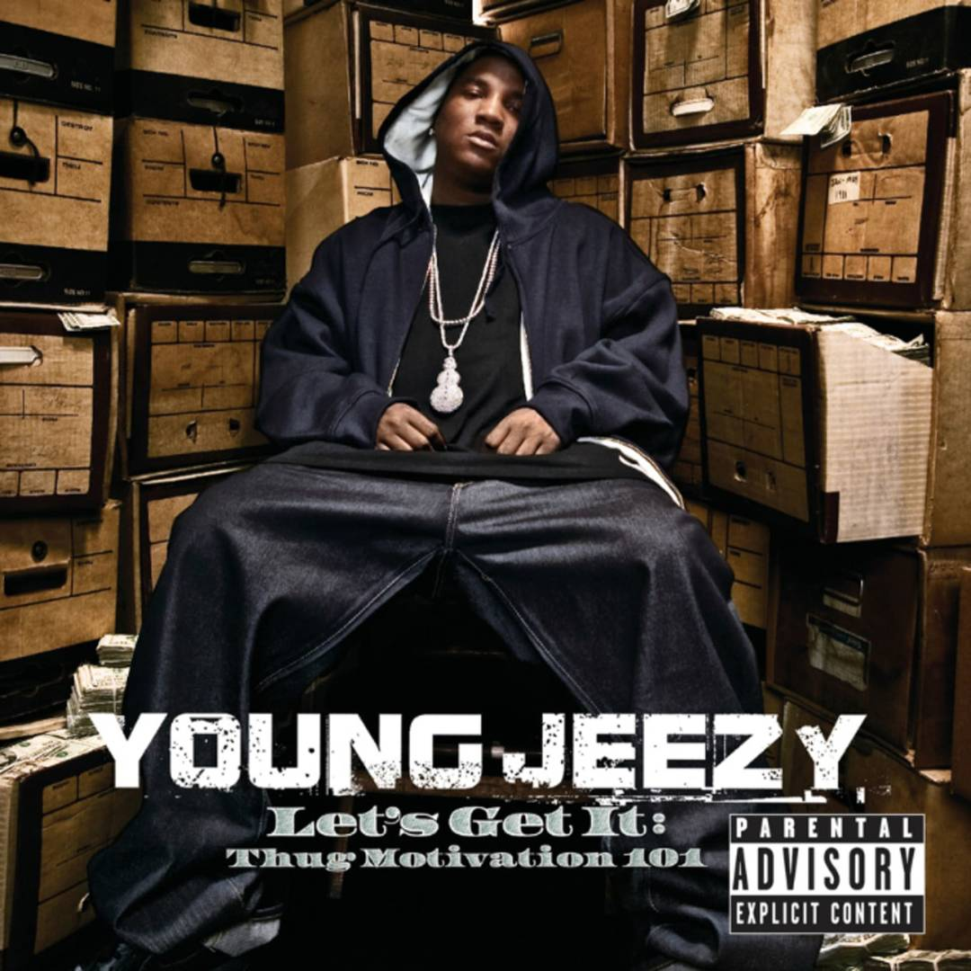 Young Jeezy - Let's Get It: Thug Motivation 101 cover art. best debut albums of the century