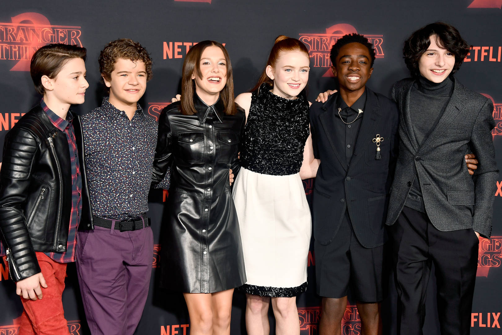 Stranger Things Big Poppa Notorious B.I.G. Biggie Smalls Carpool Karaoke Millie Bobby Brown Finn Wolfhard Caleb McLaughlin Gaten Matarazzo Noah Schnapp Sadie Sink cast rap sing