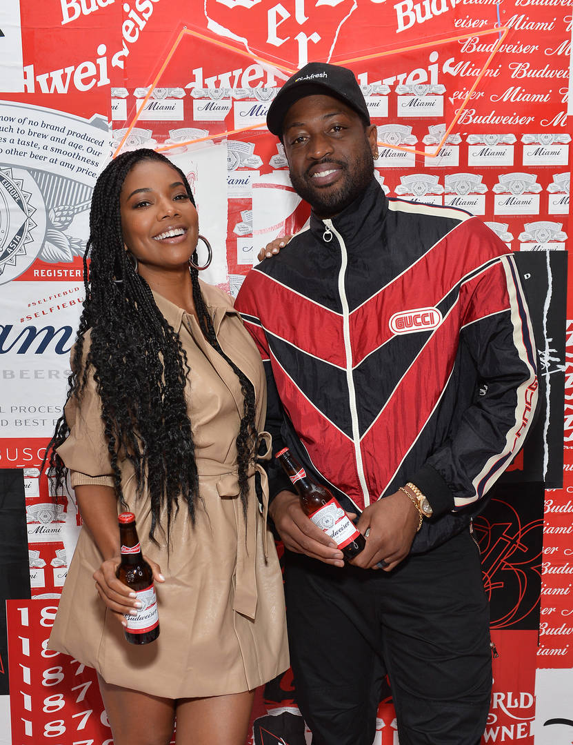 Dwyane Wade & Gabrielle Union Hilariously Hoop It Up At Home