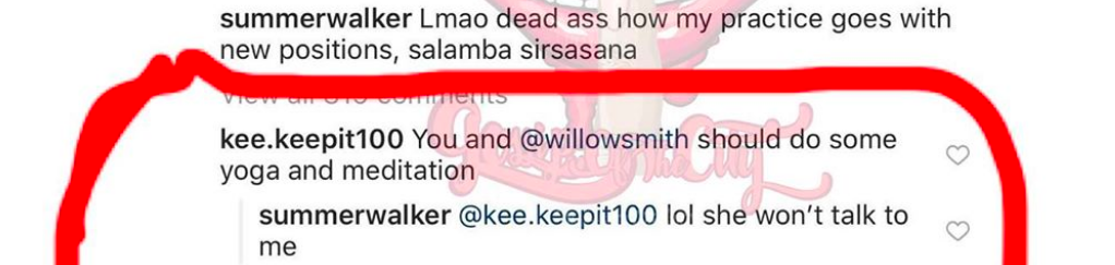 Summer Walker & Willow Smith May Have Beef