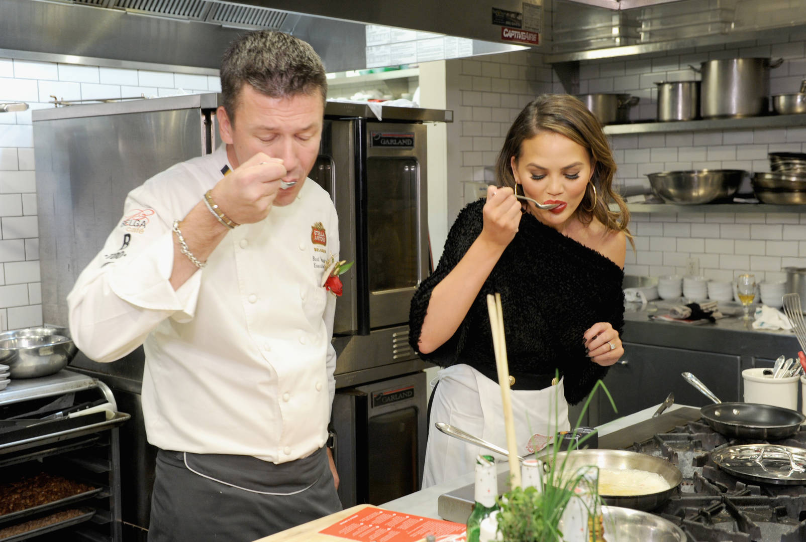 Chrissy Teigen & Fellow Cookbook Author Alison Roman Squash Beef