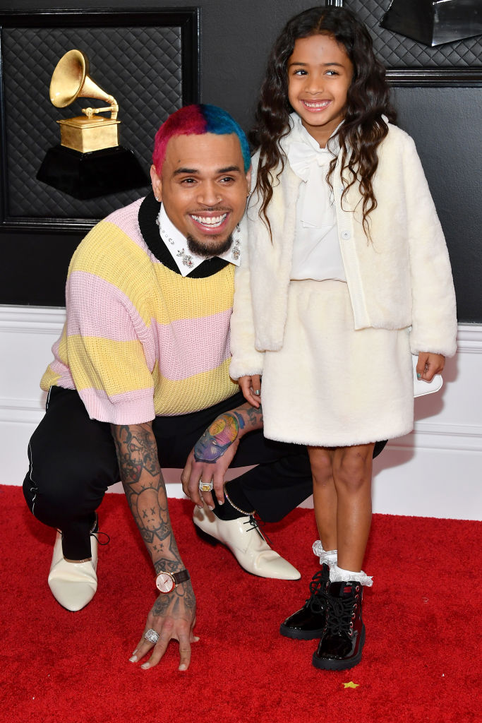 Chris Brown's Daughter & Baby Mama Charm In Matching Bathing Suits