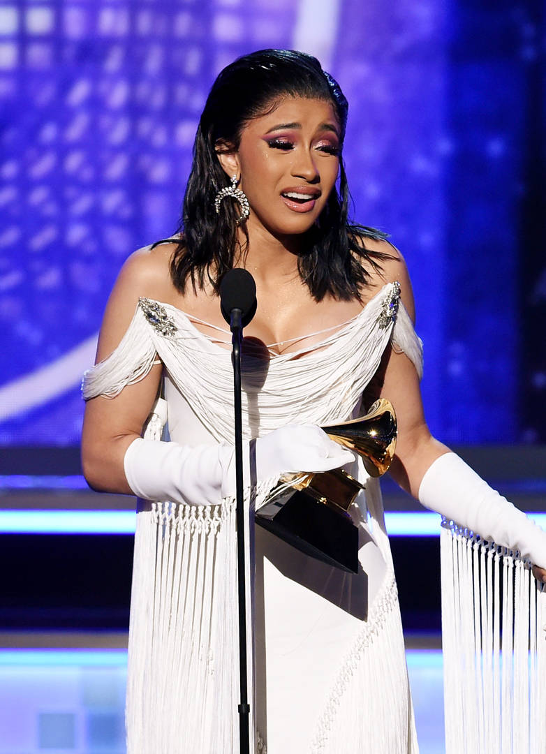 Cardi B's Grammy Finally Arrived In The Mail