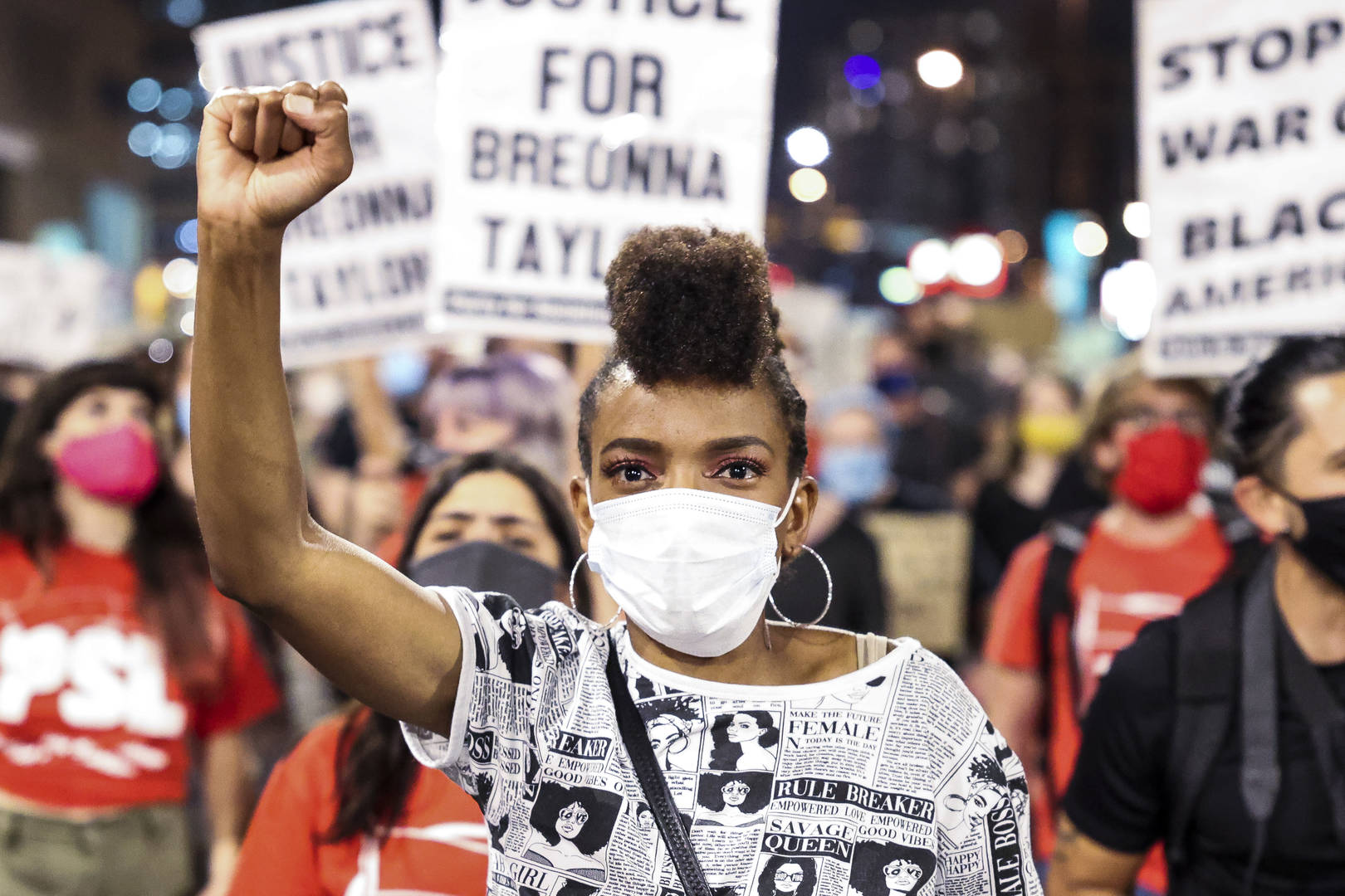 Breonna Taylor, Courthouse, Fire, Protests, Riots