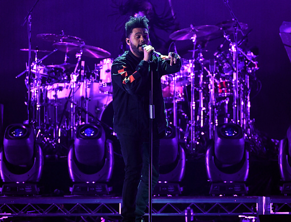 The Weeknd performing at iHeartRadio Music Festival