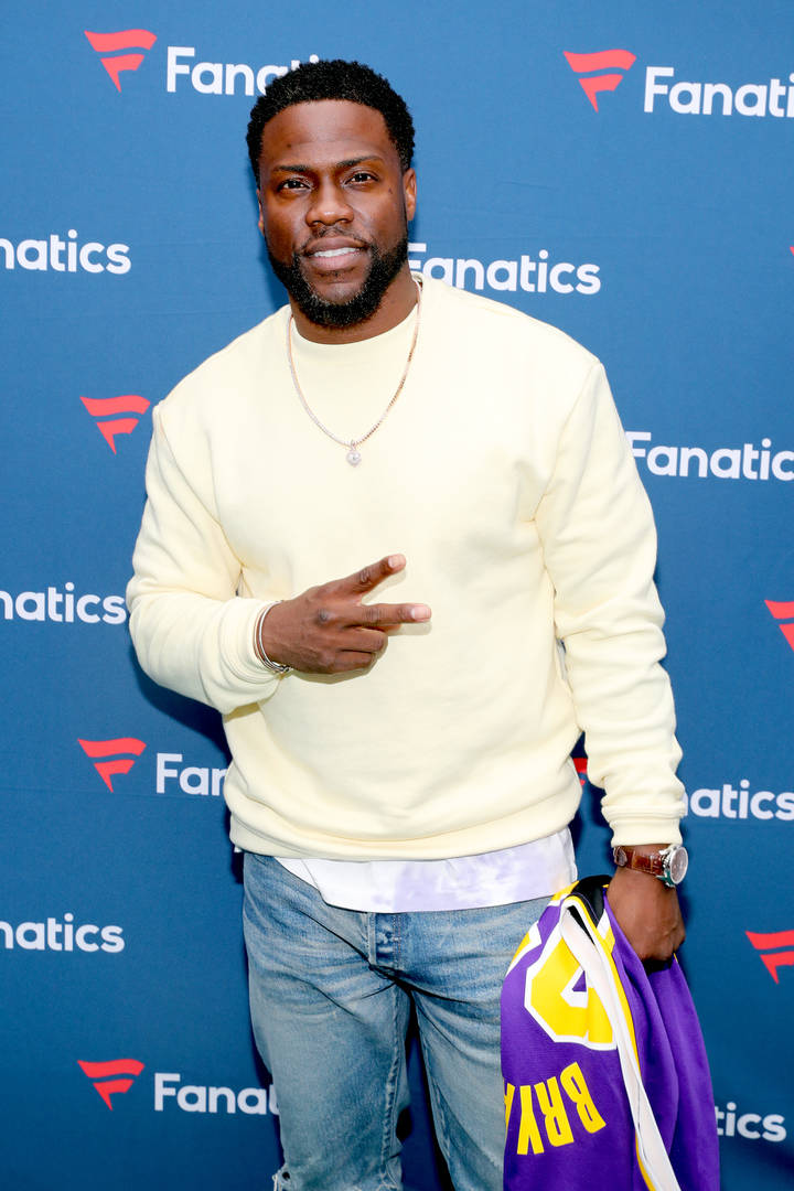 Kevin Hart attends Michael Rubin's Fanatics Super Bowl Party at Loews Miami Beach Hotel