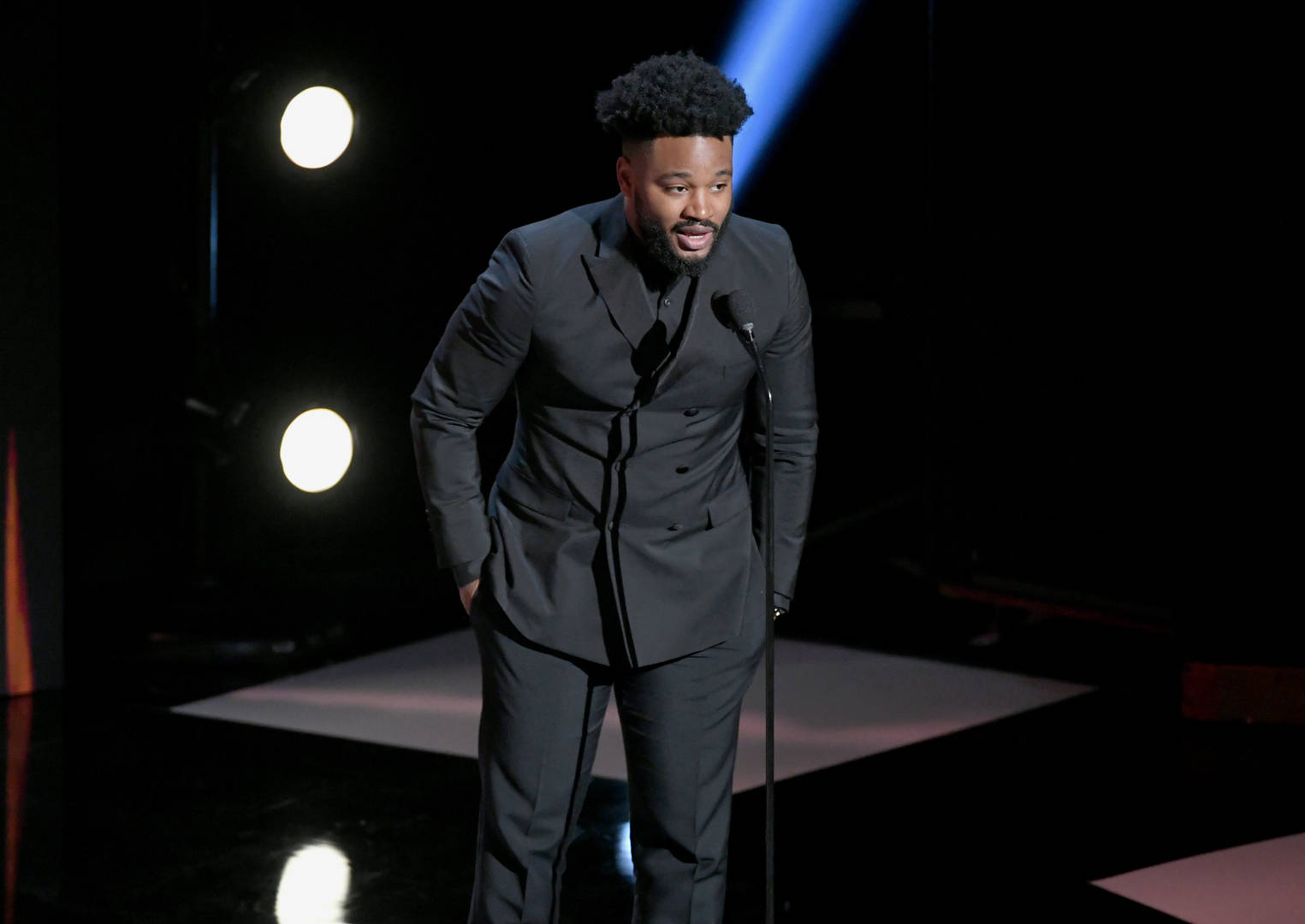 Ryan Coogler speaks onstage at the 50th NAACP Image Awards