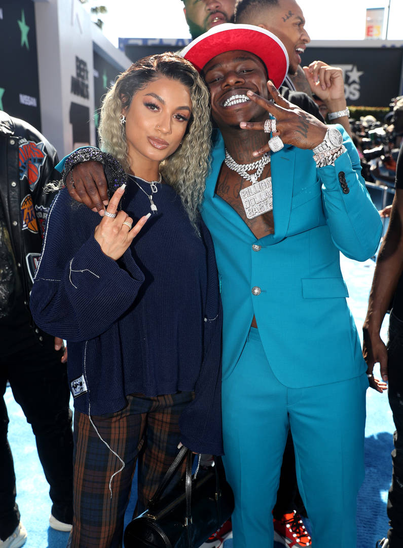 DaniLeigh and DaBaby attend the 2019 BET Awards