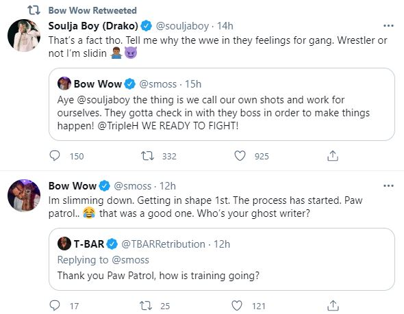 Bow Wow, Twitter, soulja Boy, Wrestling, WWE