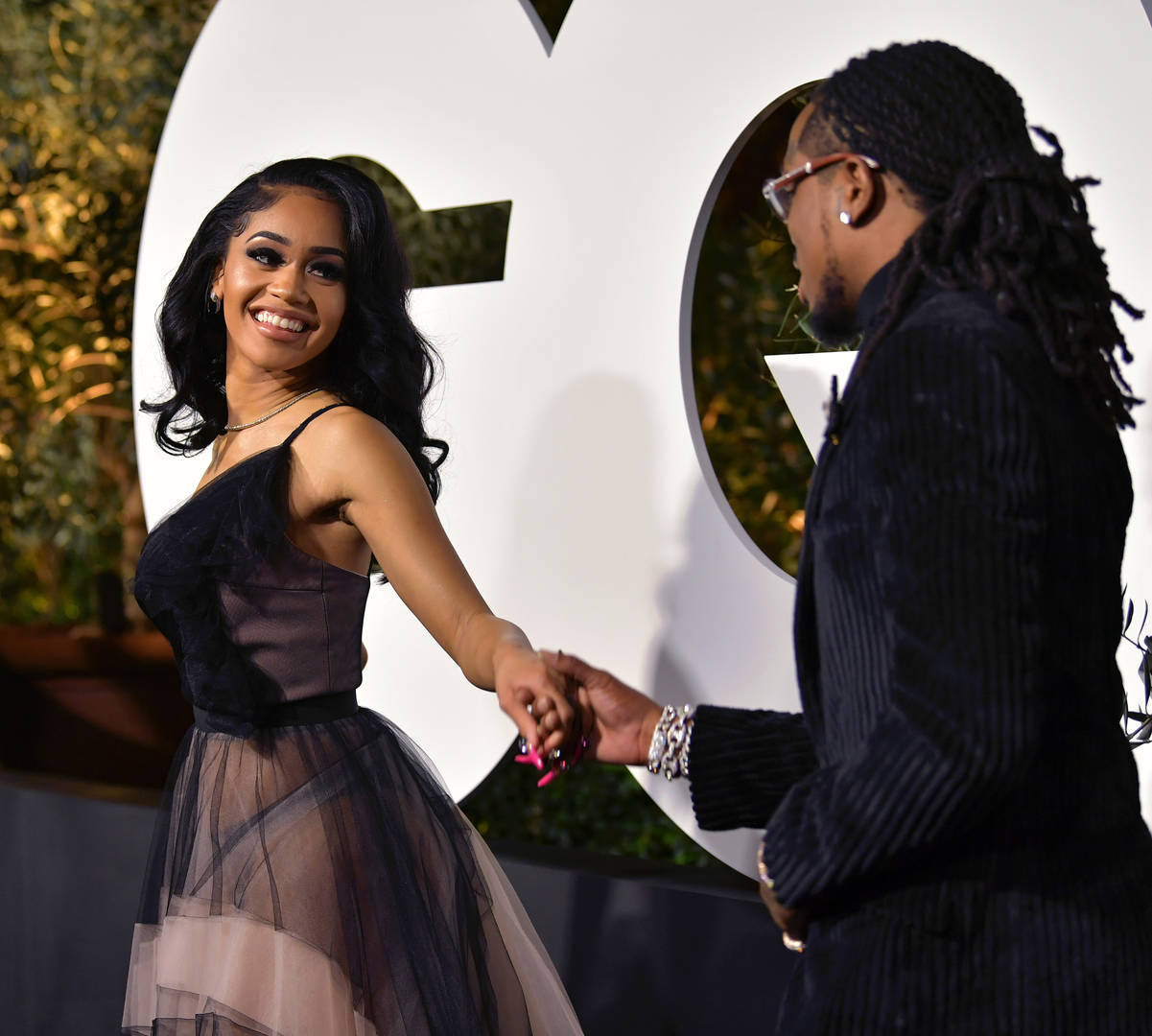 Saweetie and Quavo attend the 2019 GQ Men of the Year at The West Hollywood Edition on December 05, 2019 in West Hollywood, California.