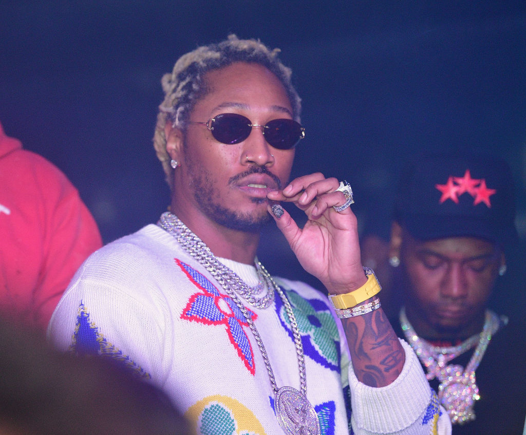 "Future and Moneybagg Yo attend the Travis Scott ""Franchise"" celebration event at Republic Lounge on October 8, 2020 in Atlanta, Georgia."