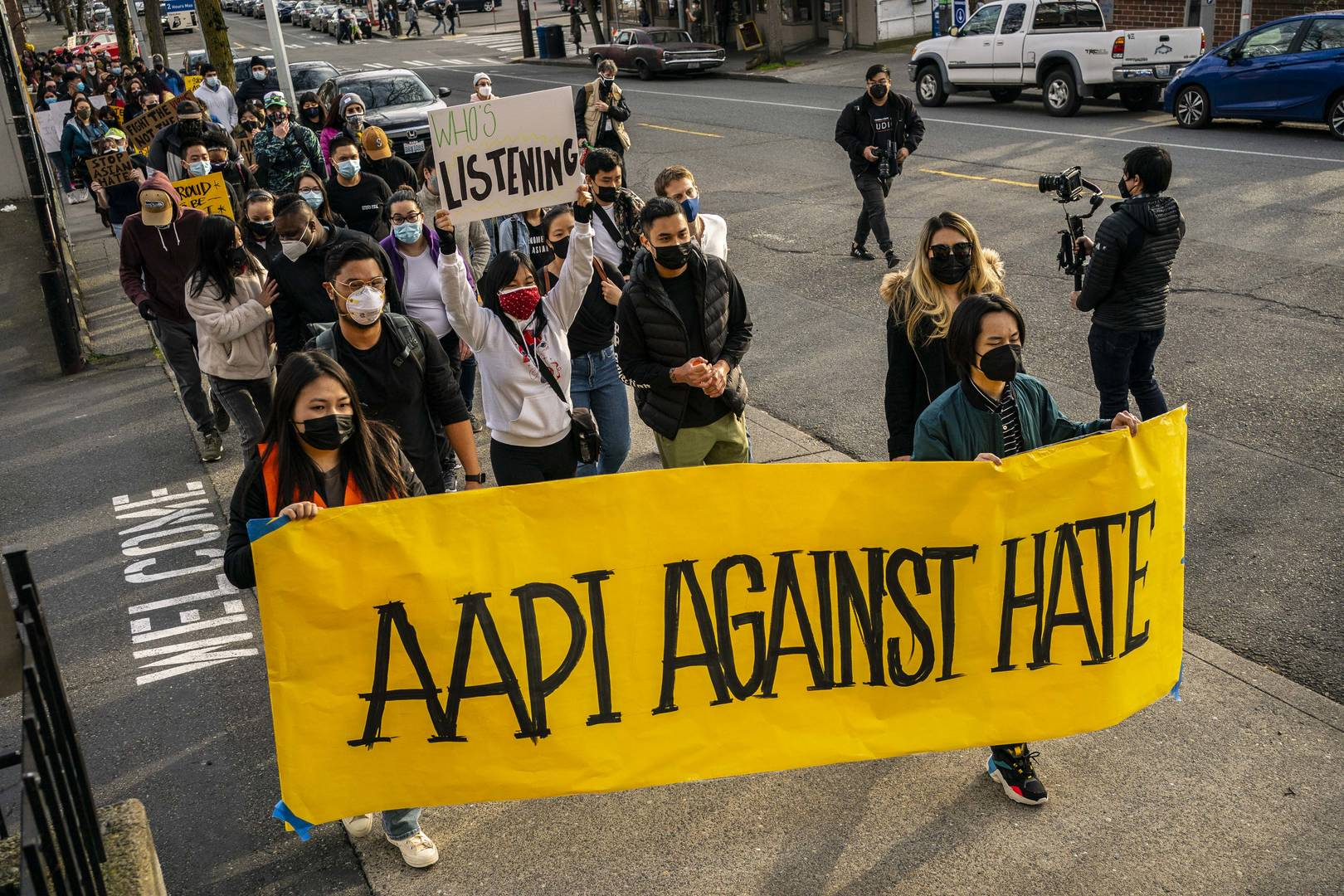 Anti-AAPI hate protesters