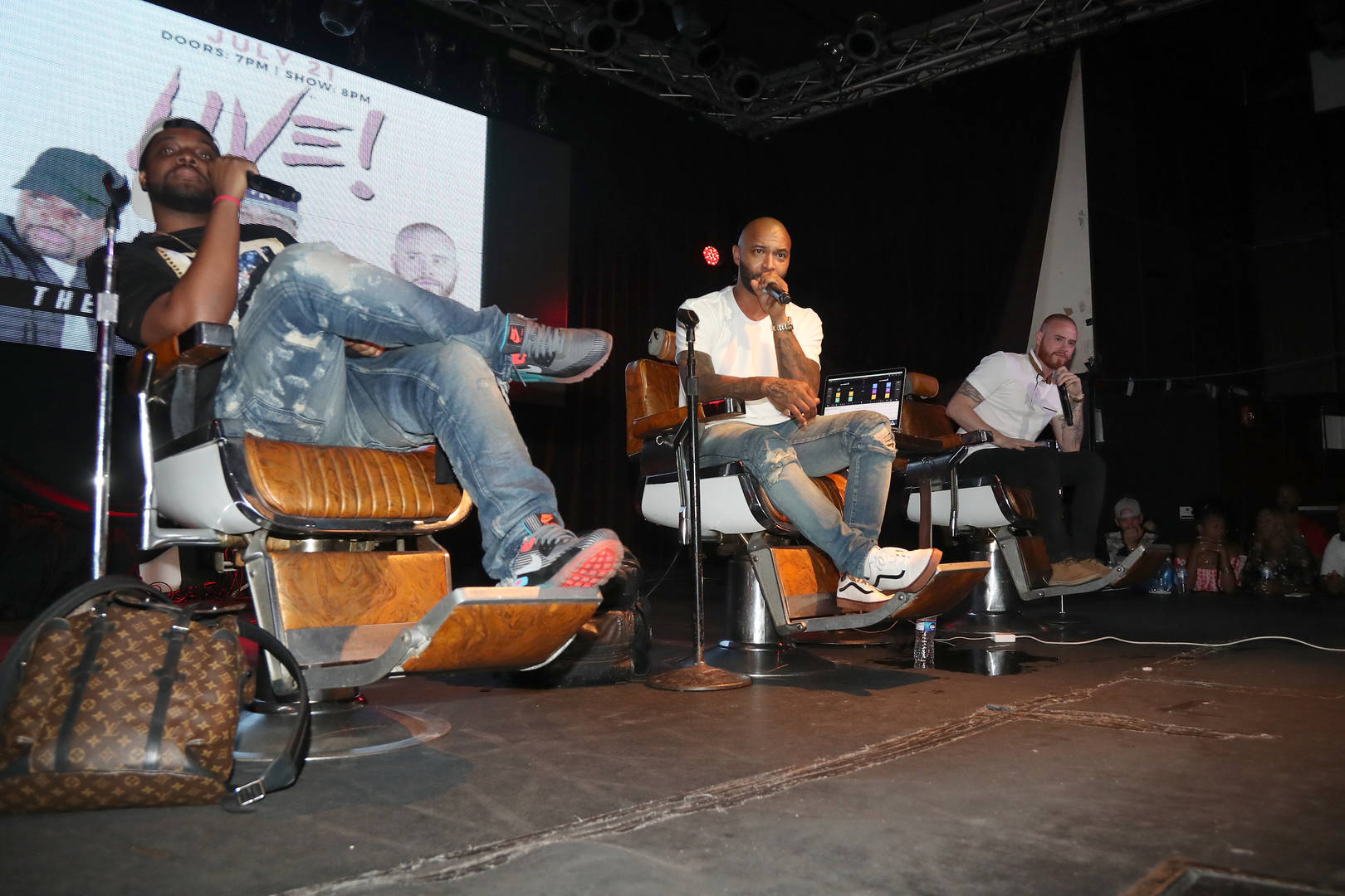 Joe Budden and Rory attend the Joe Budden Podcast Live at Highline Ballroom on July 21, 2017 in New York City.