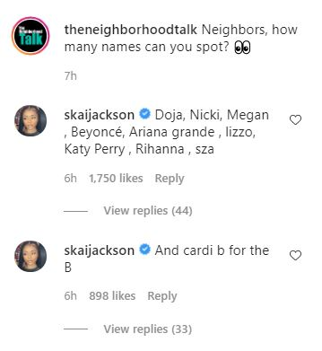 Skai Jackson, Doja Cat, Female Rappers, Women in Rap, The Neighborhood Talk