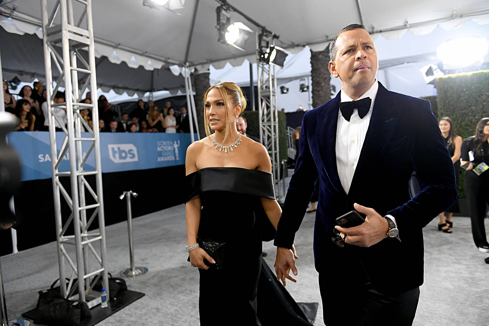 Jennifer Lopez and Alex Rodrigue attend the 26th Annual Screen ActorsGuild Awards at The Shrine Auditorium on January 19, 2020 in Los Angeles, California