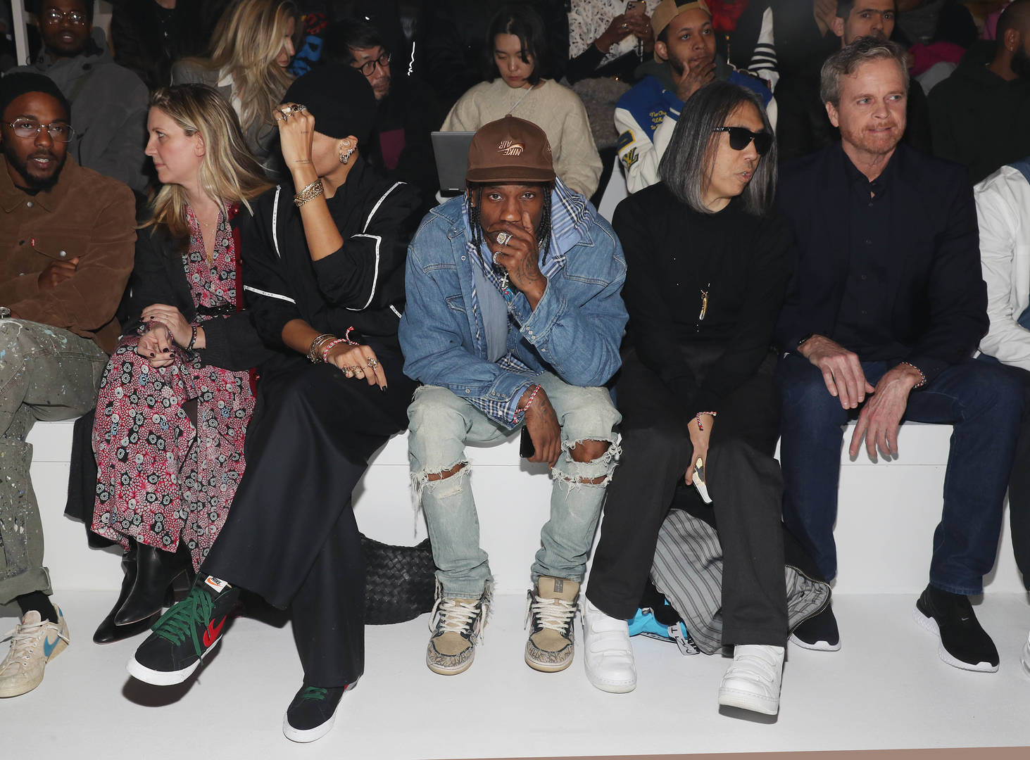 Recording artist Travis Scott attends the 2020 Tokyo Olympic collection fashion show at The Shed on February 05, 2020 in New York City.