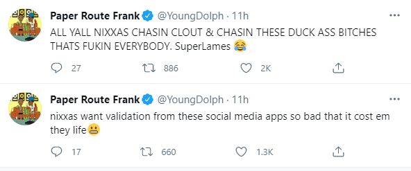 Young Dolph, Groupies, Twitter