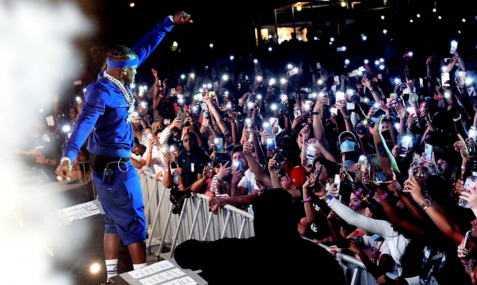 DaBaby performs during DaBaby + Friends Concert at Orlando Amphitheater on April 17, 2021 in Orlando, Florida.