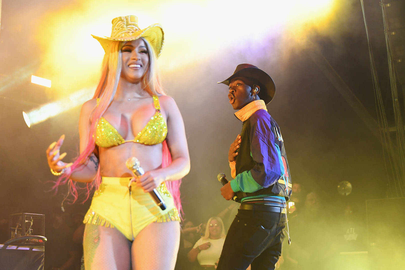 Cardi B and Lil Nas X perform at Summer Jam 2019 at MetLife Stadium on June 02, 2019 in East Rutherford, New Jersey.