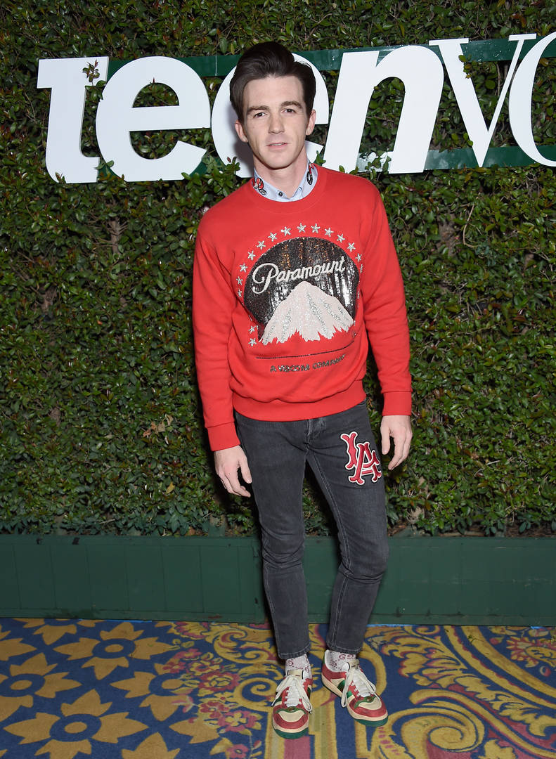 Drake Bell attends Teen Vogue's Young Hollywood Party, Presented By Snap at Los Angeles Theatre on February 15, 2019 in Los Angeles, California.