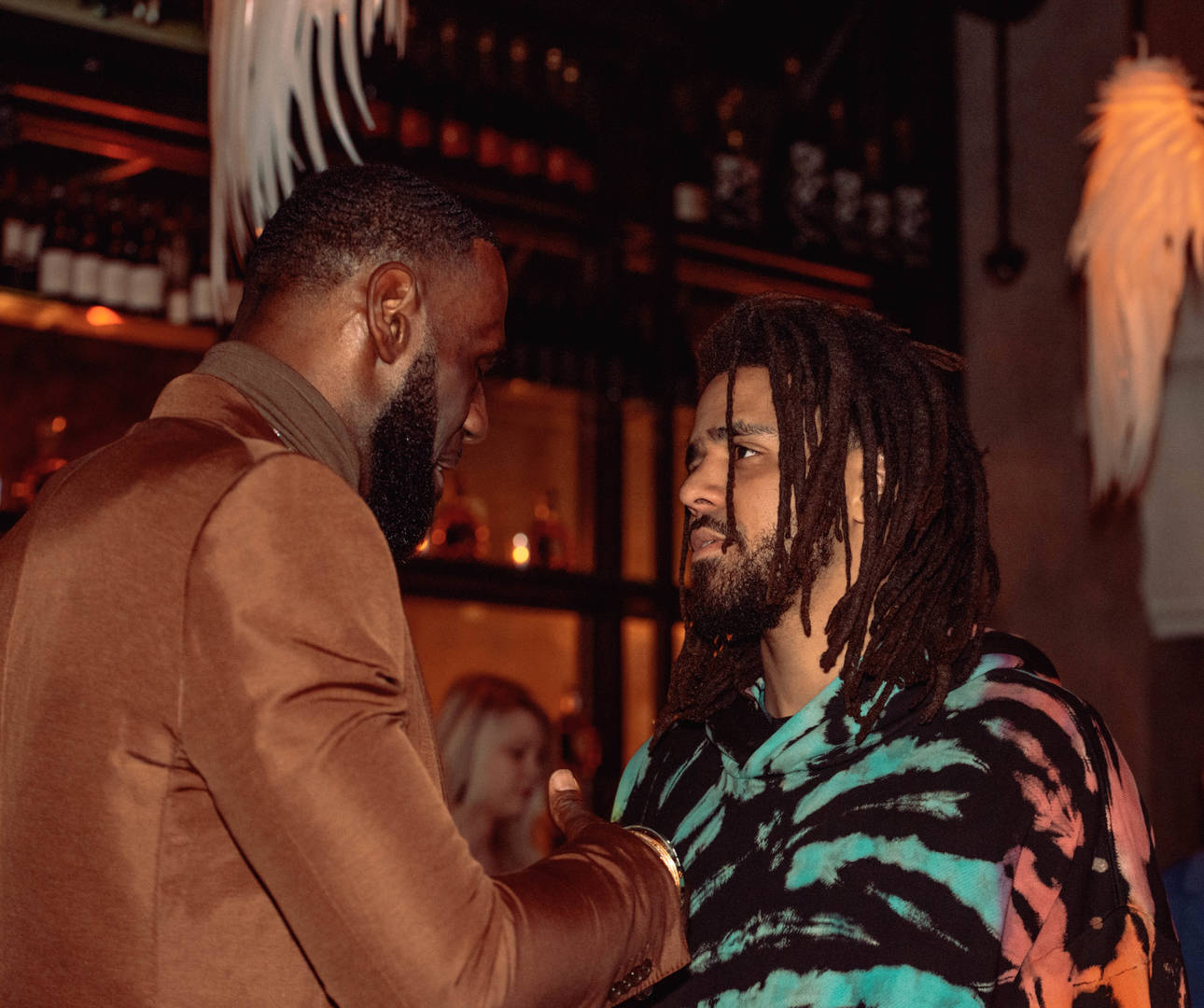 LeBron James and J.Cole attend the Klutch 2019 All Star Weekend Dinner Presented by Remy Martin and hosted by Klutch Sports Group at 5Church on February 16, 2019 in Charlotte, North Carolina.