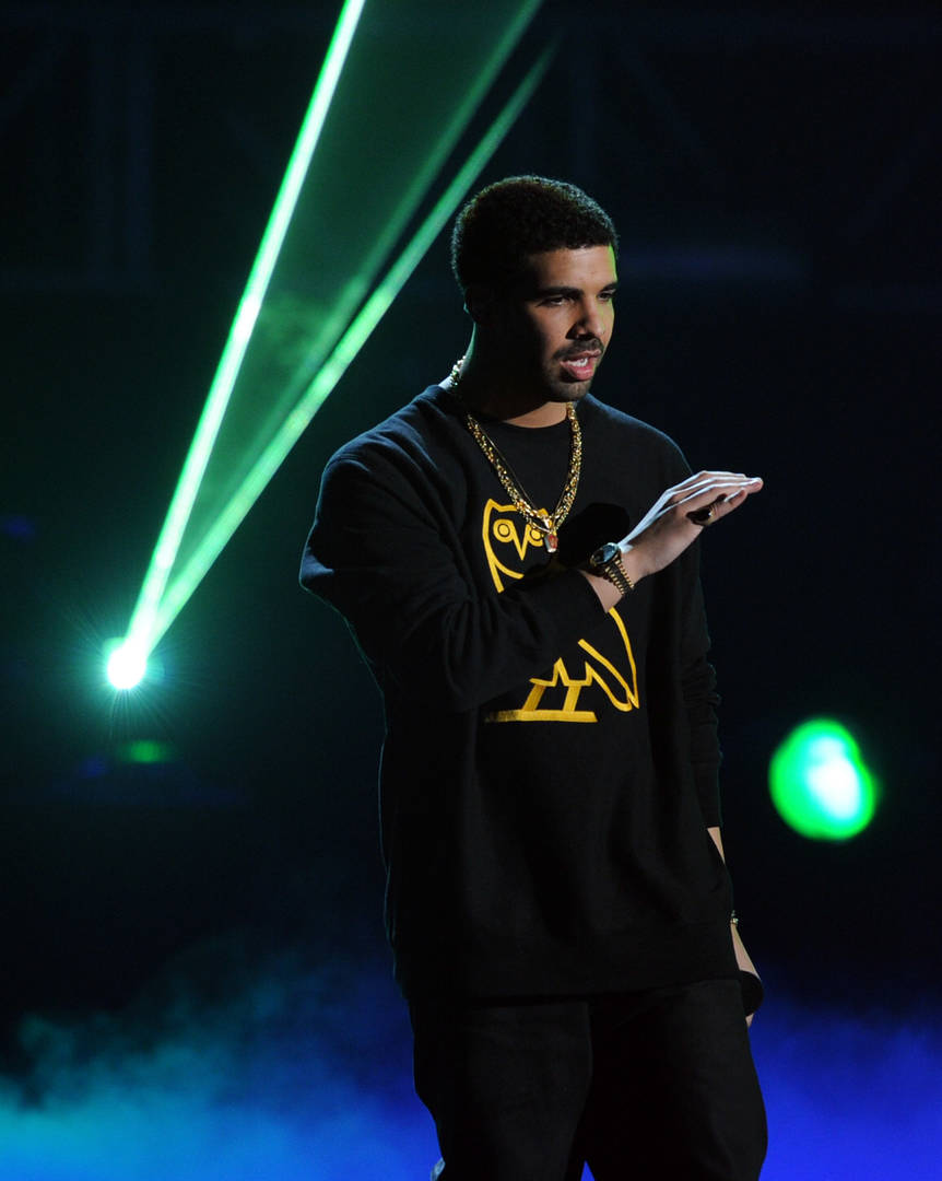 Rapper Drake accepts the Coca Cola Viewers' Choice Award onstage during the BET Awards '11 held at the Shrine Auditorium on June 26, 2011 in Los Angeles, California.