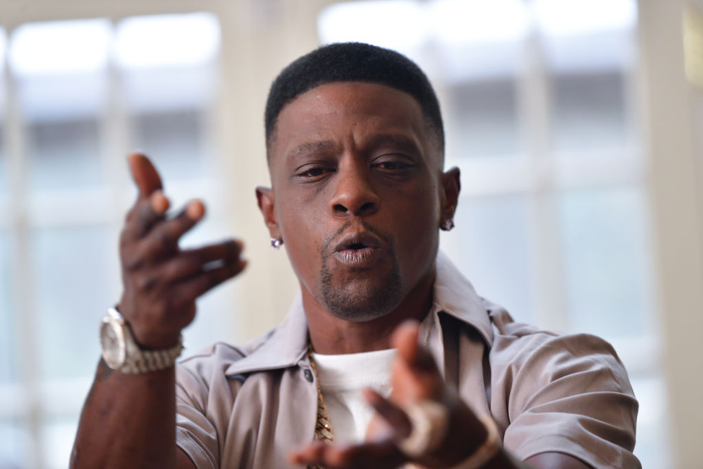 """Rapper Lil Boosie on the set of the music Video """"Shottas"""" at Private Residence on September 23, 2020 in Atlanta, Georgia."""