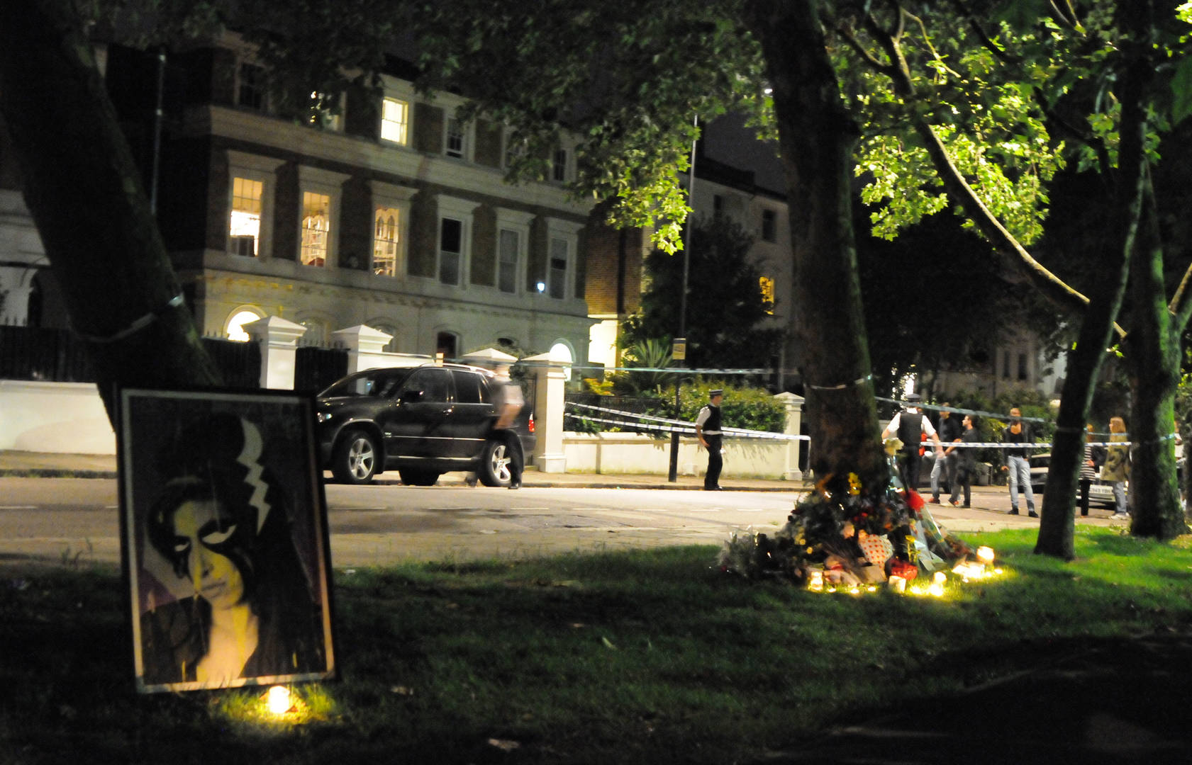 Amy Winehouse Memorial Outside Her Home
