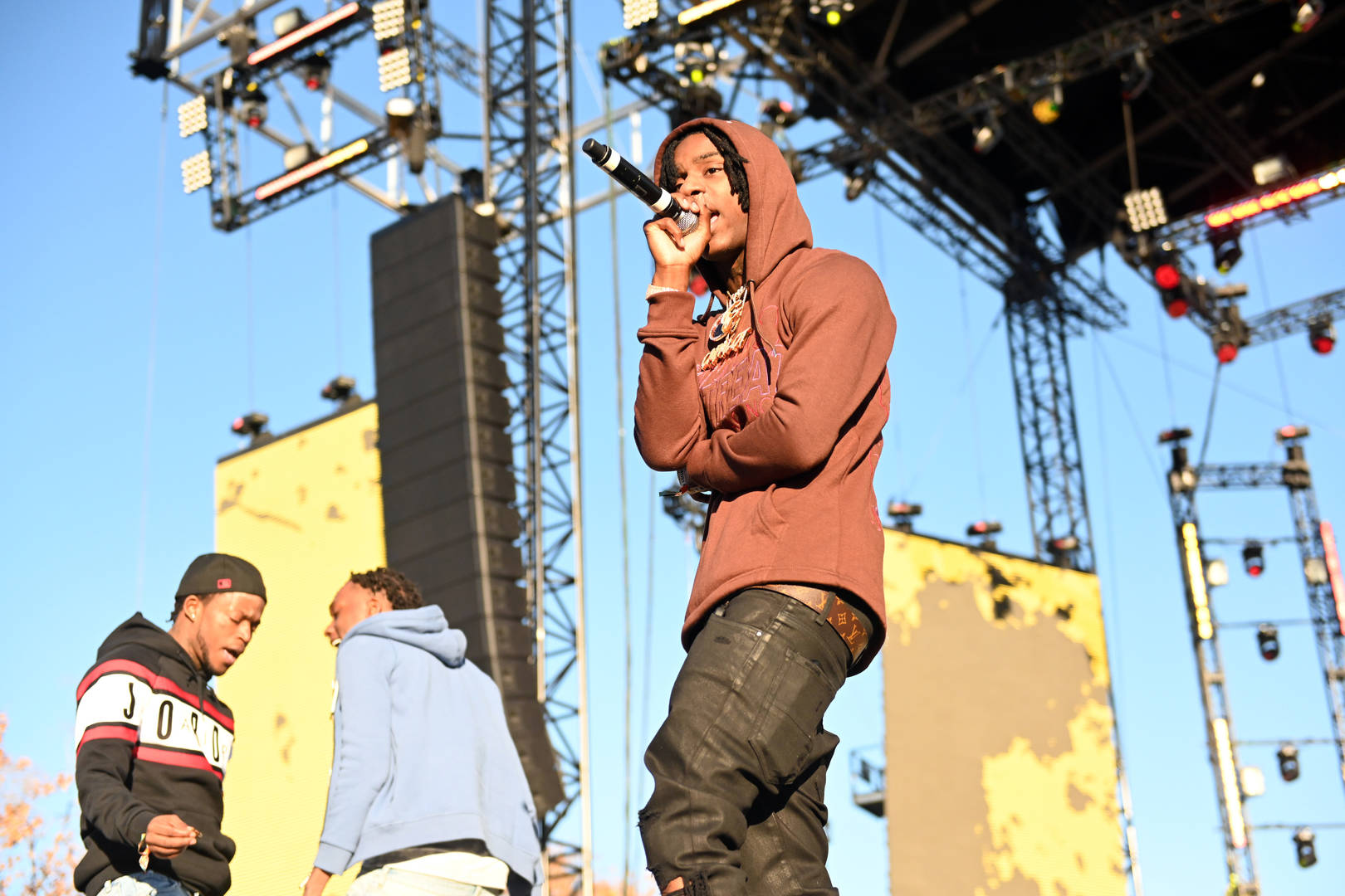 Rapper Polo G performs onstage during day 2 of the Rolling Loud Festival at Banc of California Stadium on December 15, 2019 in Los Angeles, California. (Photo by Scott Dudelson/Getty Images)