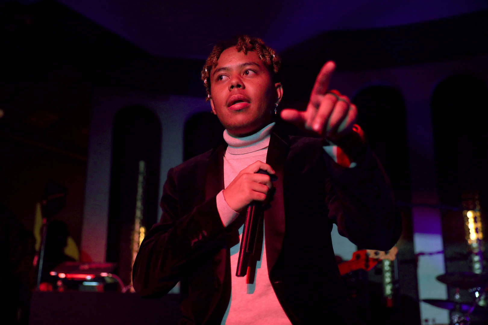 YBN Cordae performs onstage at the LiveXLive Pre-Grammy Jam Featuring YBN Cordae And Friends at The Peppermint Club on January 25, 2020 in Los Angeles, California.