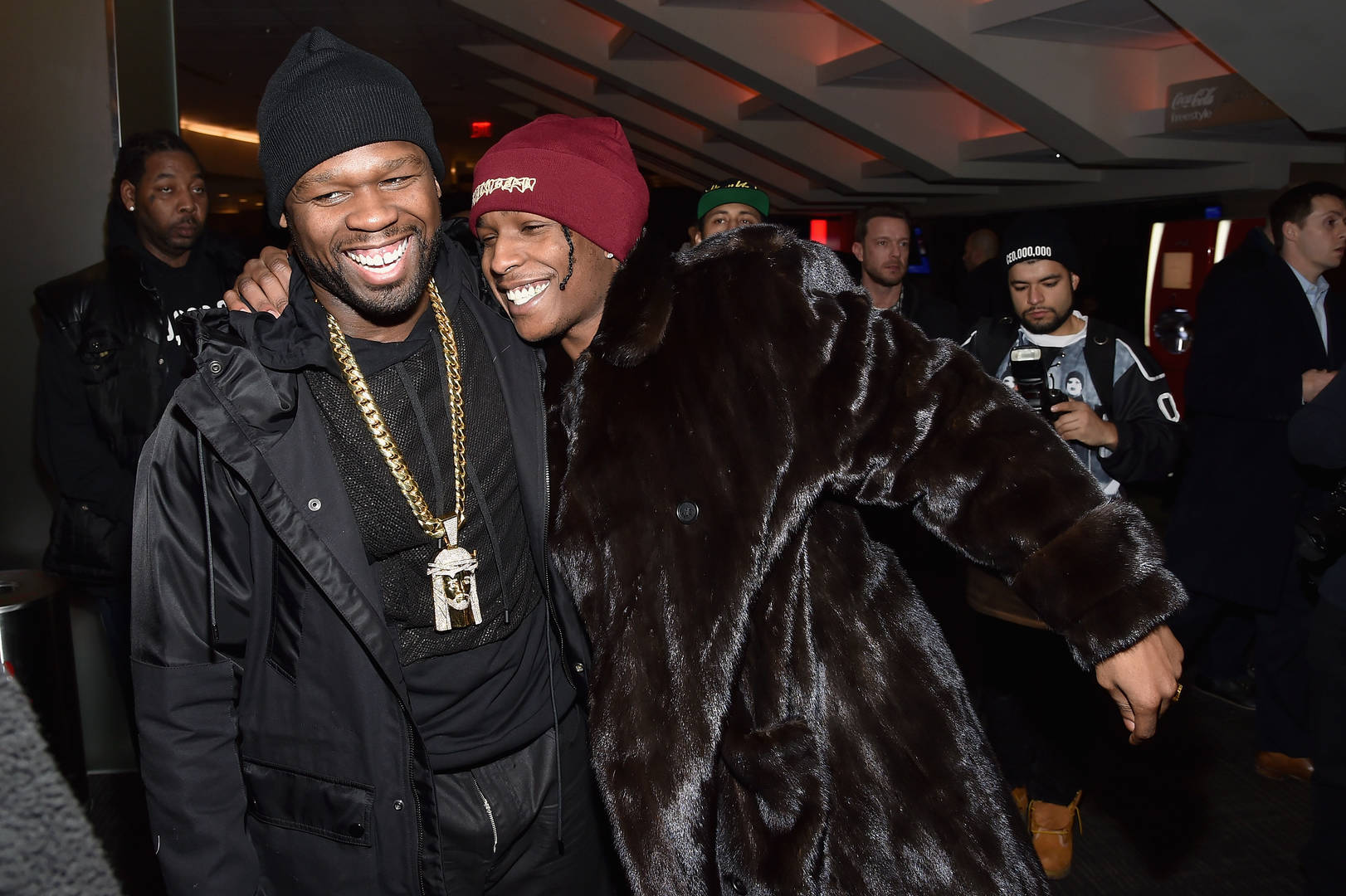 50 Cent, A$AP Rocky, Beer Pong