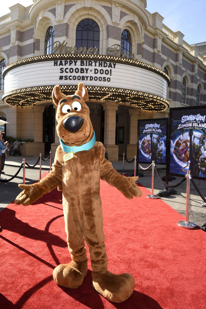 Scooby-Doo attends Scooby-Doo's 50th Birthday Event on September 13, 2019 in Burbank, California.