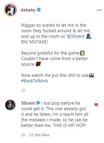 DaBaby, 50 Cent