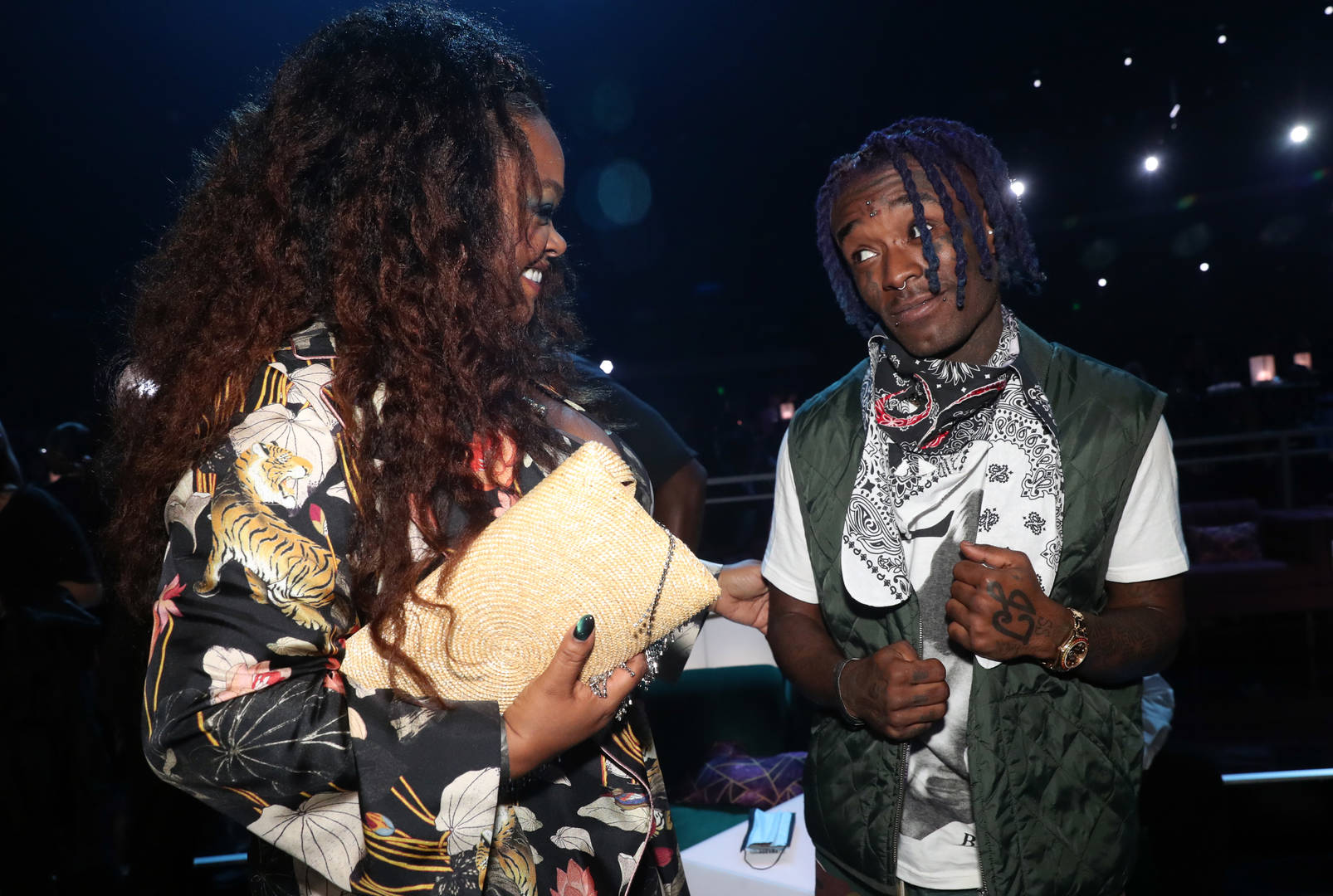 Jill Scott and Lil Uzi Vert participate in the BET Awards 2021 at the Microsoft Theater on June 27, 2021 in Los Angeles, California.