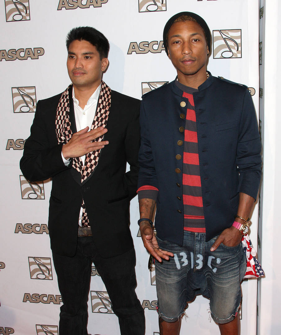 Producer Chad Hugo (L) recording artist Pharrell attend ASCAP Rhythm & Soul Music Awards at The Beverly Hilton Hotel on June 29, 2012 in Beverly Hills, California.