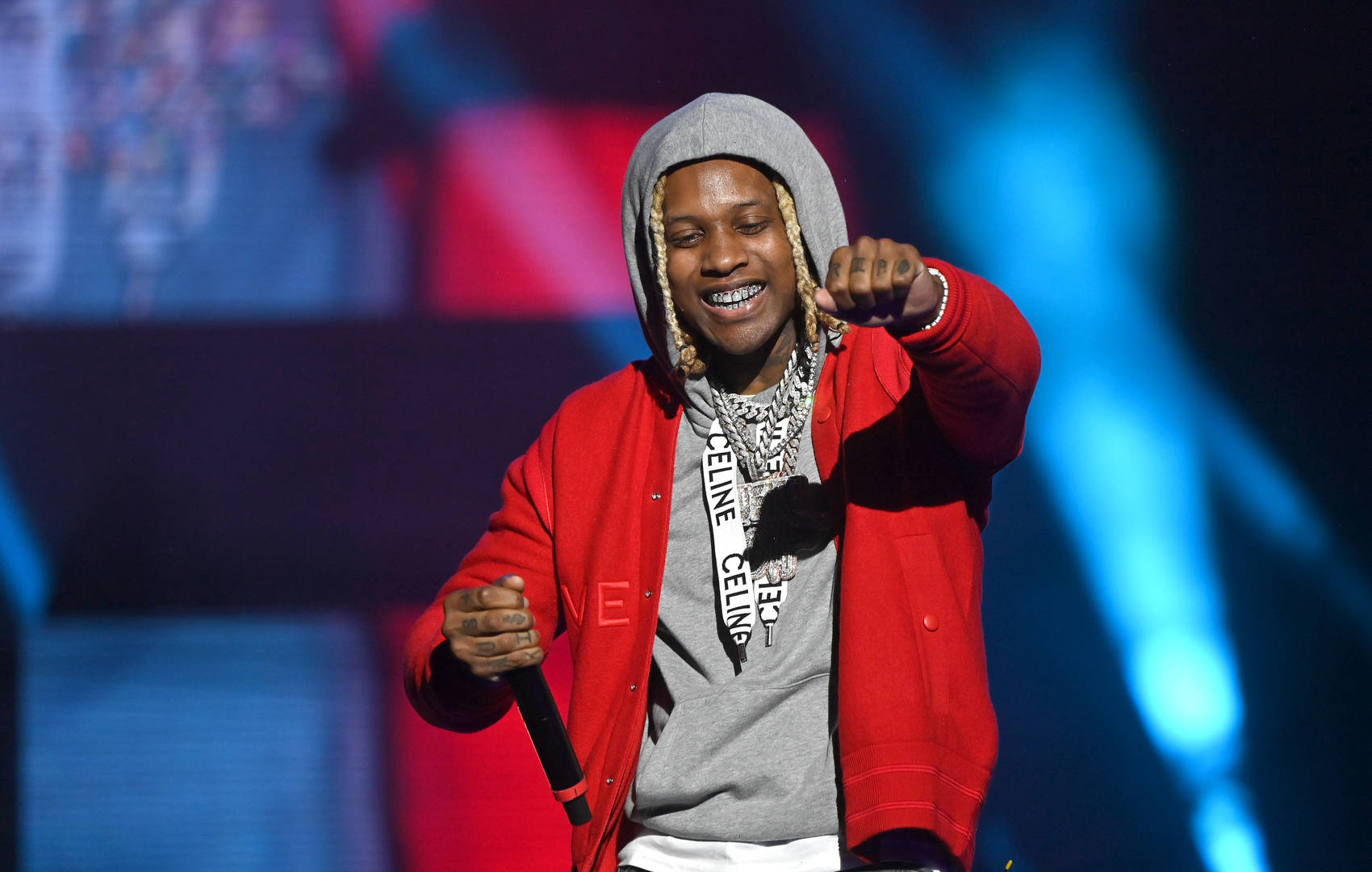 Rapper Lil Durk performs onstage during Hot 107.9 Birthday Bash 25 at Center Parc Credit Union Stadium at Georgia State University on July 17, 2021 in Atlanta, Georgia.