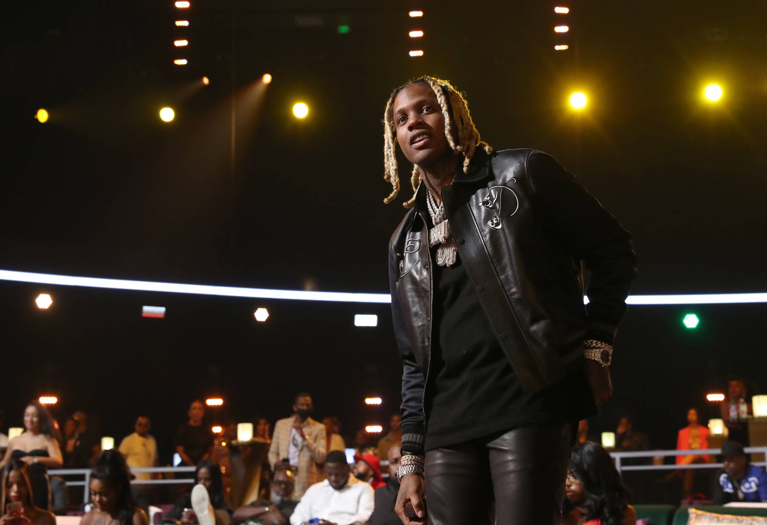 Lil Durk performs onstage at the BET Awards 2021 at Microsoft Theater on June 27, 2021 in Los Angeles, California.