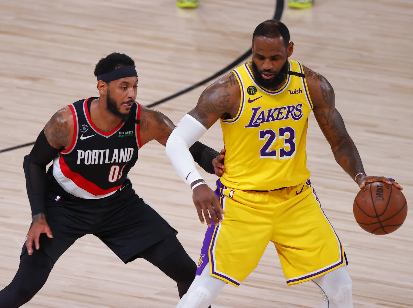 carmelo anthony lebron james the lakers