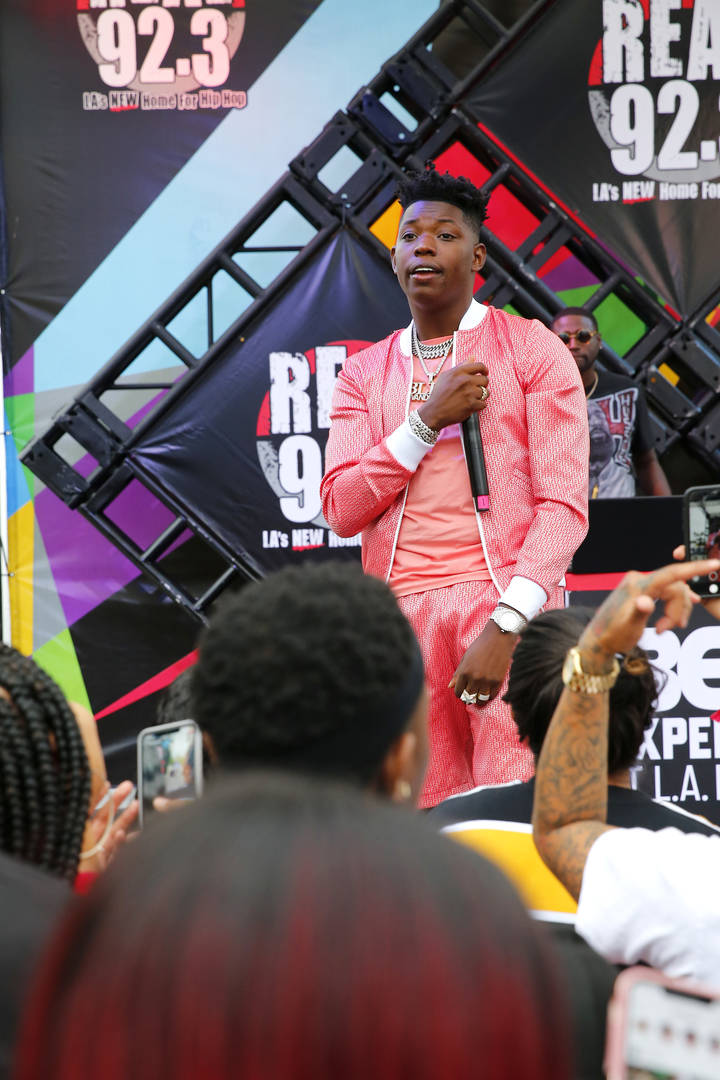 Yung Bleu performs onstage during the 2019 BET Experience The Real Stage Hosted By 92.3 at Los Angeles Convention Center on June 21, 2019 in Los Angeles, California.