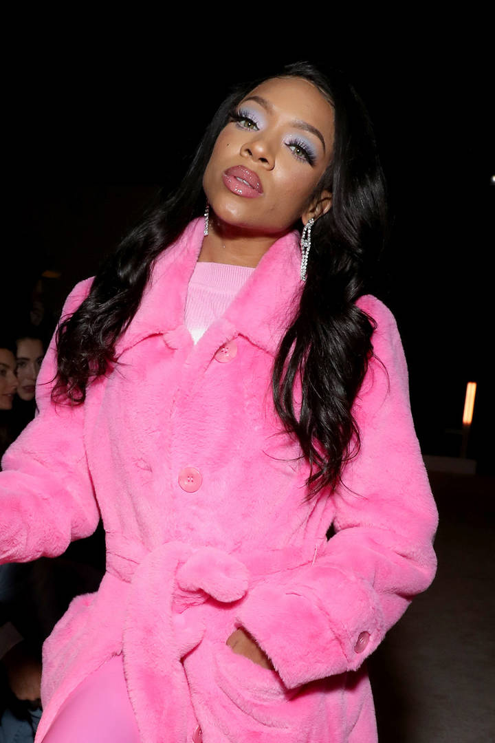 Lil Mama attends Palm Angels: The Shows during New York Fashion Week on February 09, 2020 in New York City.