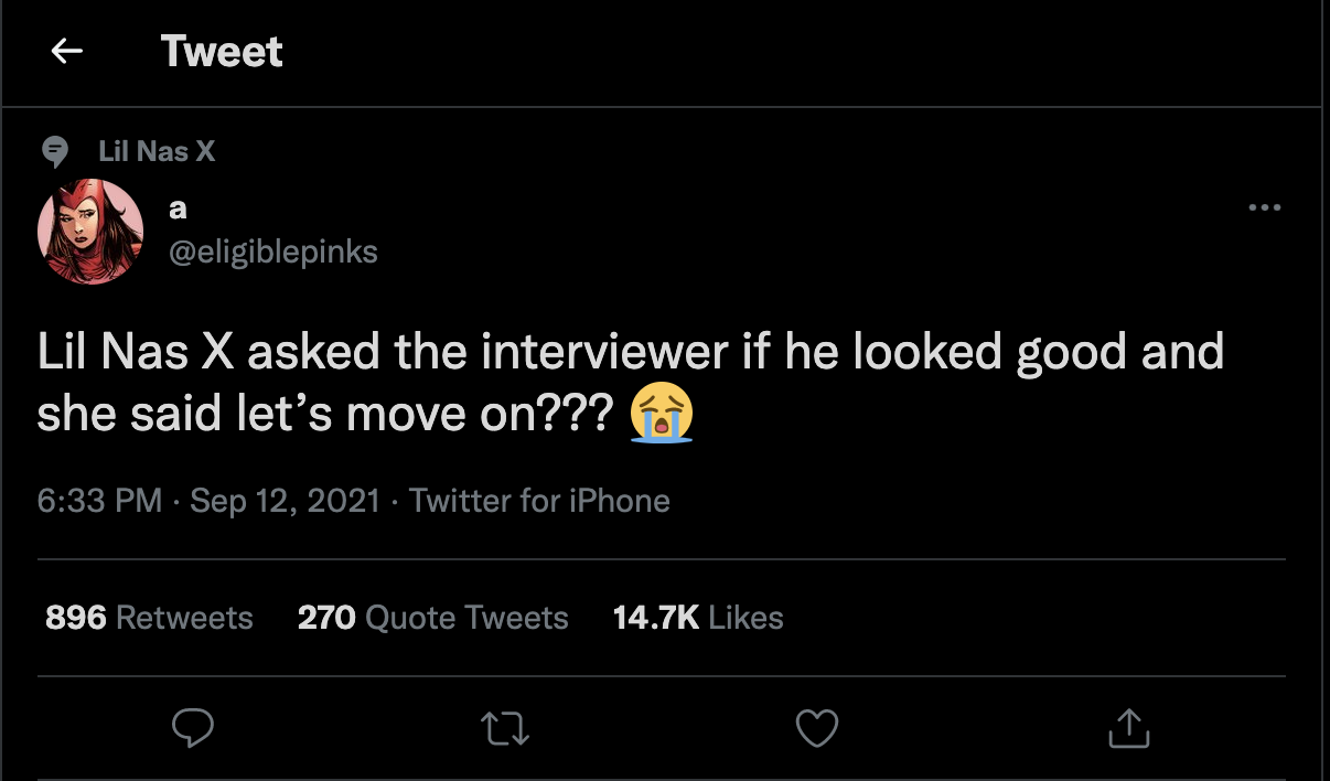 Twitter chimes in on apparent Lil Nas X red carpet-diss