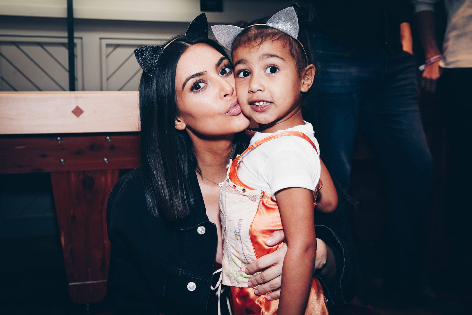 Kim Kardashian and North West Attend A Ariana Grande Concert Together (Rich Fury/Forum Photos via Getty Images)