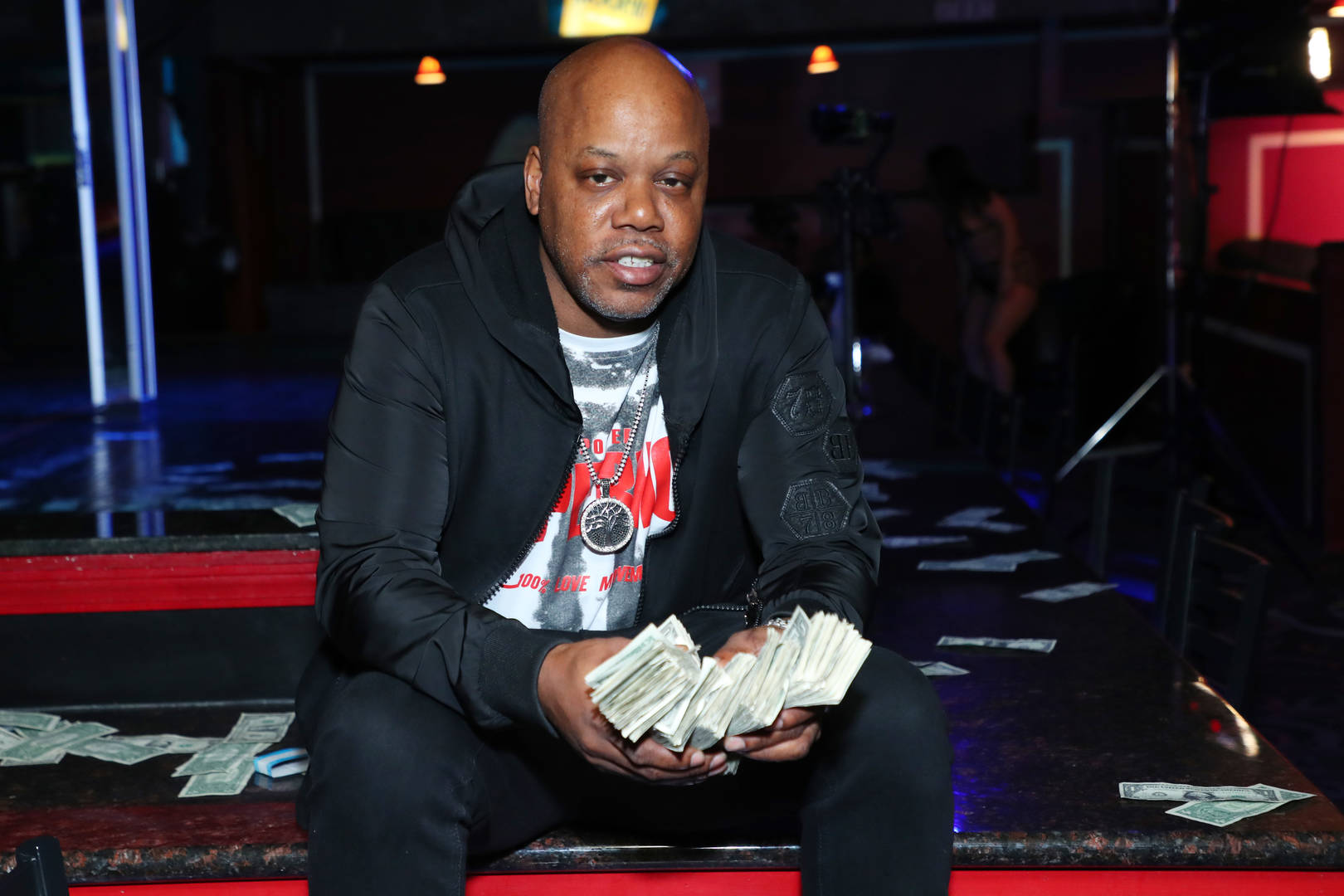 """Rapper Too Short poses for a photo during the music video shoot for the new single, """"Rain Dance"""" at Angels Cabaret on December 05, 2020 in Anaheim, California."""
